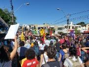 Manifestantes se unem contra reforma da Previdência no Centro