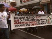 Dezenas vão às ruas em prol das pessoas com deficiência