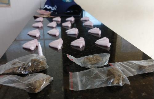 Drogas foram apreendidas com o rapaz - Foto: divulgação/GCM - Foto: ACidade ON - São Carlos