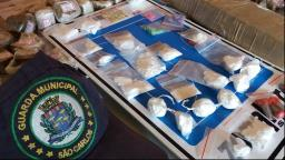 GCM apreende grande quantidade de drogas em área de mata