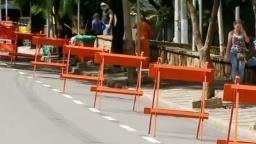 Ruas são interditadas no Centro para evitar aglomerações