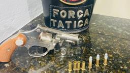 Dupla é flagrada efetuando disparos de arma de fogo no Cidade Aracy