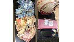 Polícia prende assaltante com malote de dinheiro roubado