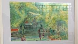 Biblioteca UFSCar apresenta exposição de telas em aquarela