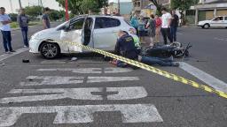 Motociclista perde a consciência em acidente no Santa Felícia