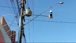 Prefeitura instala câmeras que identificam placas de veículos