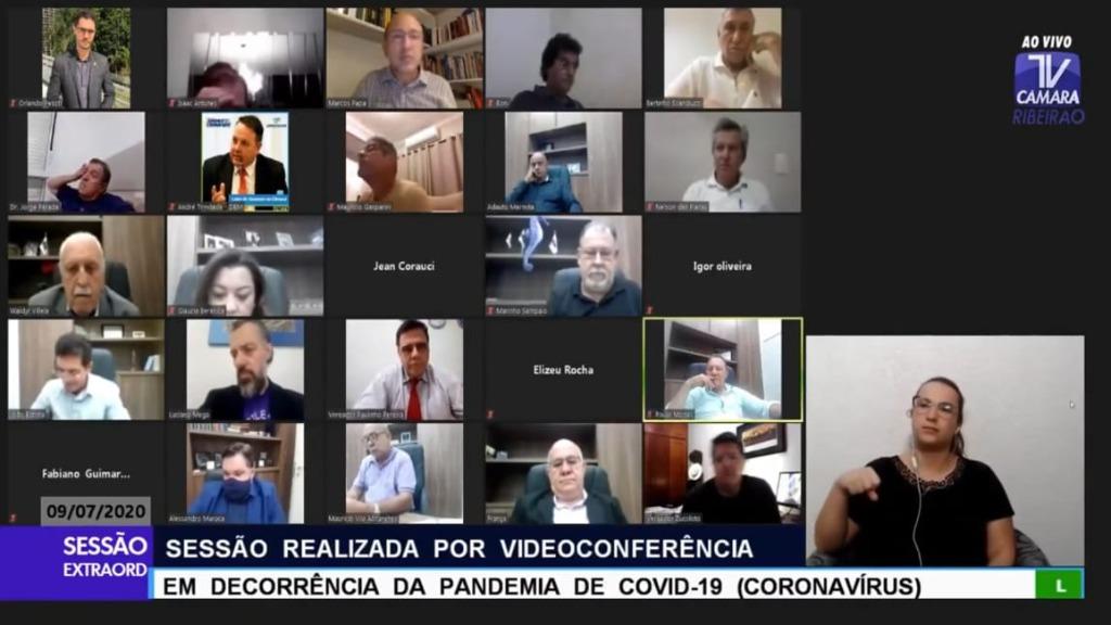 Sessões são realizadas por videoconferência (Imagem: Reprodução) - Foto: ACidade ON - Ribeirão Preto