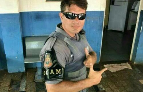 O soldado da Polícia Militar, Roberto Pereira Abramovícius, 38 anos, foi morto na manhã desta quarta-feira (21) - Foto: Reprodução / WhatsApp