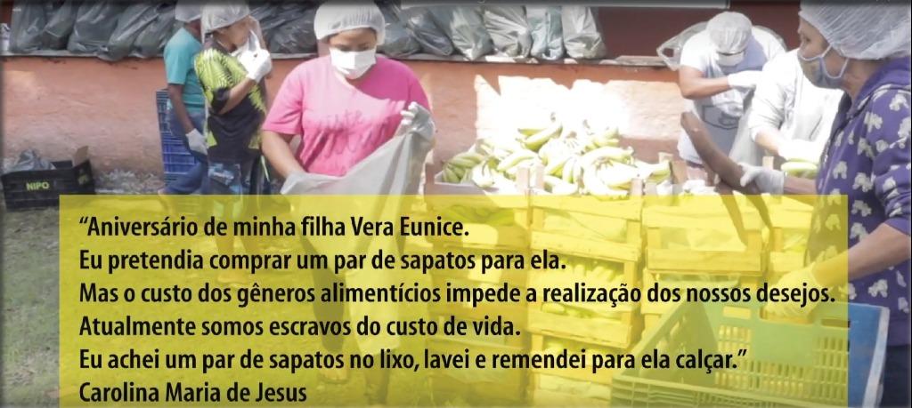 Reprodução do videoclipe Tem gente com fome, do Coletivo Barbante, lançado às 19h desta quinta (17) - Foto: Reprodução