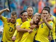 Suécia derrota a Suíça e volta às quartas da Copa após 24 anos
