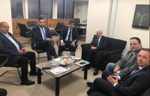 Vereadores e o prefeito Duarte Nogueira se reuniram com o conselheiro Sidney Beraldo, do TCE-SP (Foto: divulgação). - Foto: divulgação