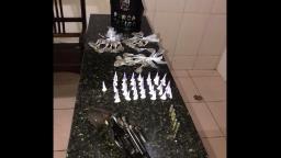PM captura procurado e apreende drogas e arma de fogo no Aracy