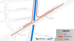 Novo viaduto de Ribeirão tem pista bloqueada para manutenção