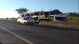 Rodovia Cândido Portinari é liberada ao trânsito após acidente