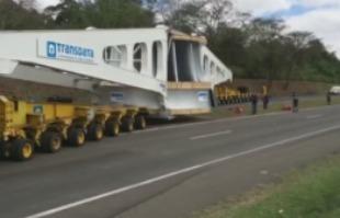 Reprodução EPTV - Turbina segue de Araraquara para a usina Belo Monte