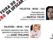 José Trajano e Marcia Tiburi estão na programação da Feira do Livro da UFSCar