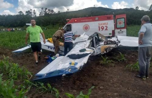 Divulgação - Ultraleve caiu em Mato Grosso. Créditos: Divulgação