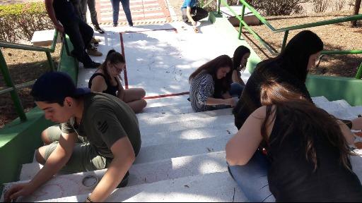 Estudantes de Arquitetura e Urbanismo da USF, durante atividade - Foto: Divulgação