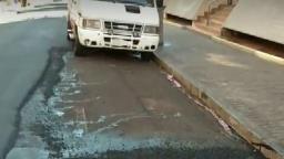 Prefeitura deixa de recapear trecho ocupado por van no Centro