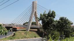 Com 90% das obras concluídas ponte estaiada já muda cenário