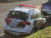 PM fica ferido em acidente no Anel Viário Sul, em Ribeirão Preto