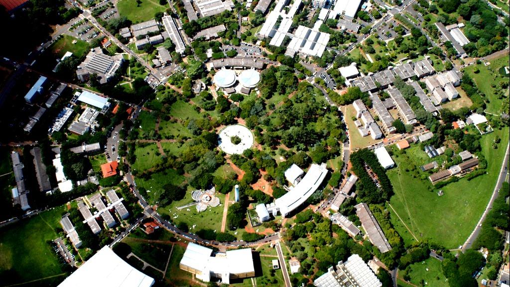 Vista aérea da Unicamp, de Campinas (Foto: Divulgação) - Foto: Divulgação